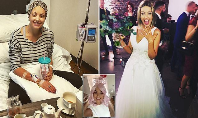 Bride-to-be was told she had cancer three months before her wedding