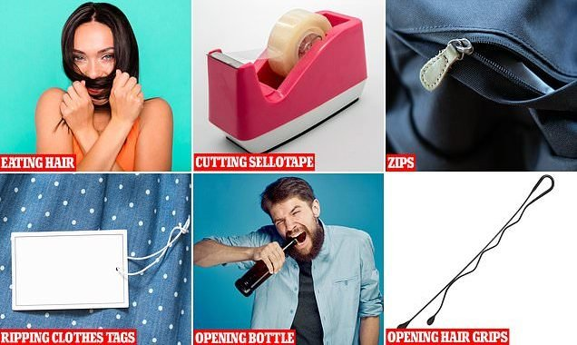 From tearing off Sellotape to opening bottles: How Britons use teeth