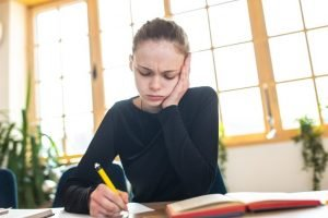 Many students suffer from headaches