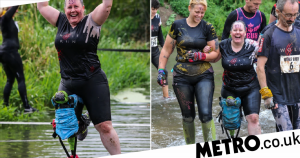 Woman completes 10k race with hi-tech 'pirate leg' after breaking her ankle