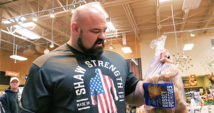 Watch Strongman Brian Show Spend $200 in the Grocery Store for His New Diet