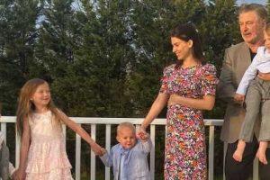 Pregnant Hilaria Baldwin Praises 'Community' Helping Her Raise 4 Kids